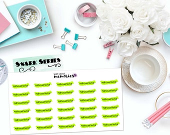 """SNARK SERIES: """"Hashtag Silhouette Fail"""" Paper Planner Stickers!"""