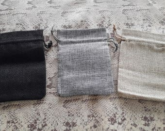 Clutch in cotton shape rectangle 14x10cm