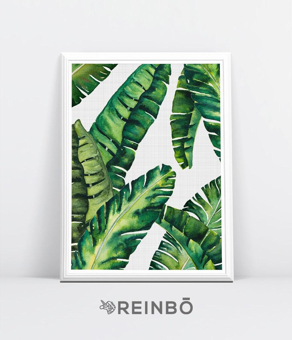 Banana leaves banana leaf print palm wall decor tropical zoom amipublicfo Images