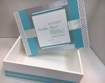 Girl's Bat Mitzvah Box Personalized