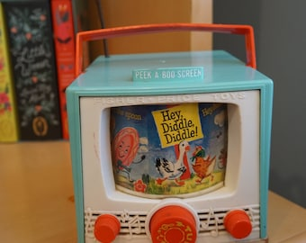 Vintage 1960s Fisher Price Peek a Boo Hey Diddle Diddle TV