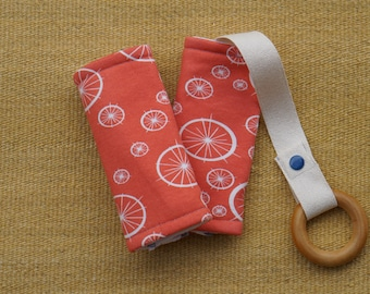 Coral Wheels Organic Baby Carrier Teething Pads. Drool Pads. Baby Wearing. Protective Pads. Teething Pads. Ergo. Boba. Beco. Lillebaby.