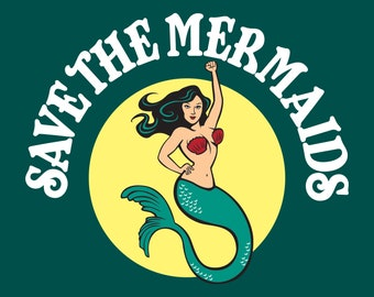 """8"""" x 10"""" Save the Mermaids! Art Print- Free Shipping in the US for a limited time!"""