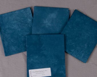 Dusky Blue Hand-Dyed Quilting Cotton Fat Quarter
