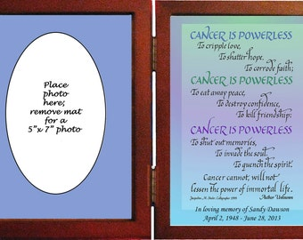 Memorial Gift-personalized in hinged frame. Assorted Sentiments  Beautiful gifts to remember a loved one