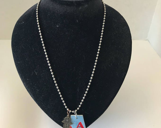 Upcycled Alabama License Plate Necklace