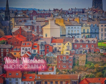 The colourful buildings of Whitby, North Yorkshire, England