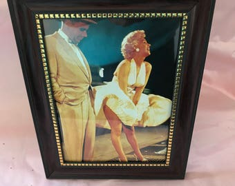Marilyn Monroe old framed postcard moviescene