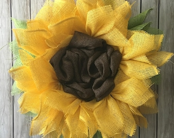 DIY Kit - Sunflower Wreath - Flower Wreath - Craft Kit - Create your own - Mesh Wreath - Sunflowers - DIY Craft Kit - Summer Wreath