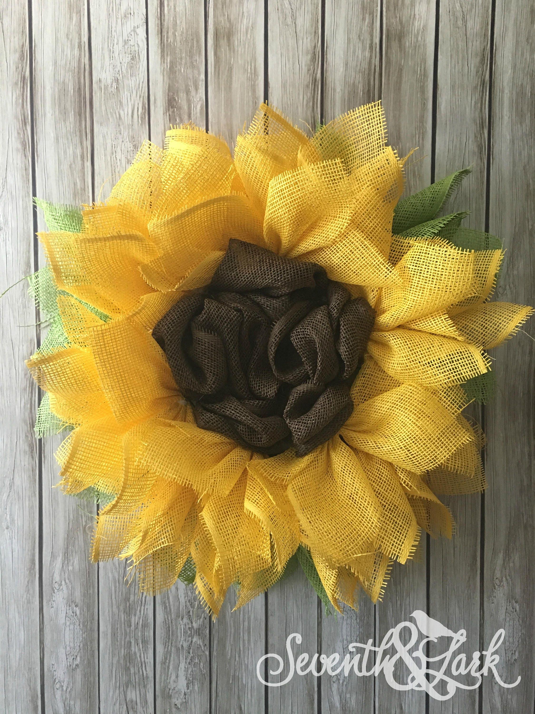 Diy Kit Sunflower Wreath Flower Wreath Craft Kit