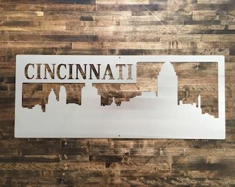 Cincinnati Skyline Metal Wall Art
