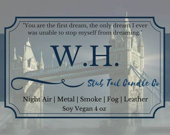 W.H. - Scented Soy Candle Inspried by Clockwork Angel