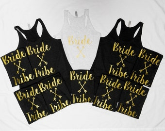 Bride & Bride Tribe Tank Tops