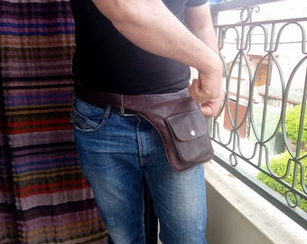 Moroccan leather Leather belt pack from marrakech