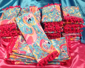 Lilly pulitzer fabric napkins set of Two