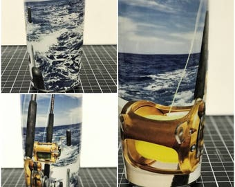 Deep Sea Fishing Custom Yeti 20 30 RTIC Cup Fully Wrapped