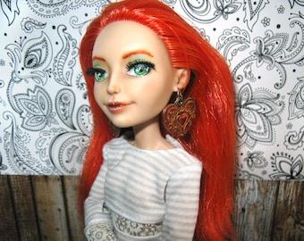 "Doll clothing jewelry earrings ""Sugar Heart"" 1/6 bjd moxie descendants project mc2 blythe monster high 17"" dc girls bratz obitsu ever after"