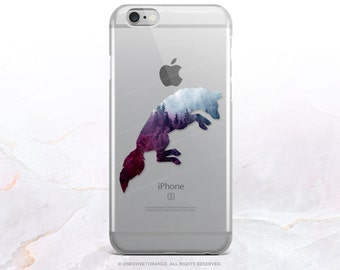 iPhone 8 Case iPhone X Case iPhone 7 Case Forest Fox Clear GRIP Rubber Case iPhone 7 Plus Clear Case iPhone SE Case Samsung S8 Case U193