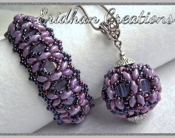 "Beaded bracelet and pendant - ""Dragonfly"" - tutorial"