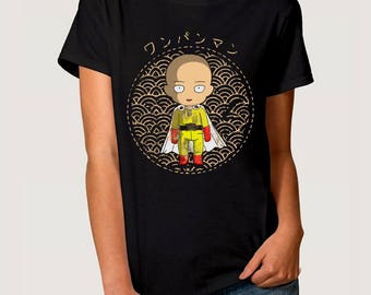 One-Punch Man Anime T-Shirt, Saitama Tee, All Sizes