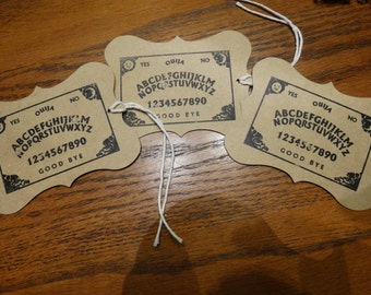 SET of 3 Large Halloween OUIJA Hang Tags