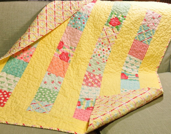 Sweet By Moda Baby Crib Quilt Girl Blanket 30 S Style