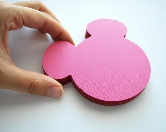 18 Mickey Die Cut ,  Mickey Mouse die cut (4 x3.75 inches) choose 1 color A207