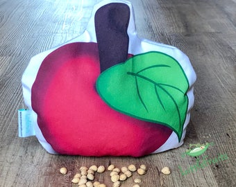 Teacher Appreciation Gift, Red Apple, Cherry Pit Pillow, Apple Gifts, Teacher Apple Gift, Apple Red Pillow, Heating Pad, Apple Lover Gift