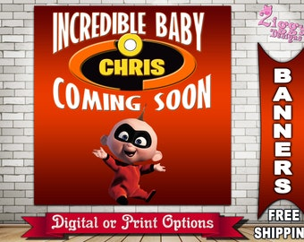 The Incredibles Banner, The Incredibles Backdrop, The Incredibles Birthday Backdrop,The Incredibles Baby Shower Coming Soon