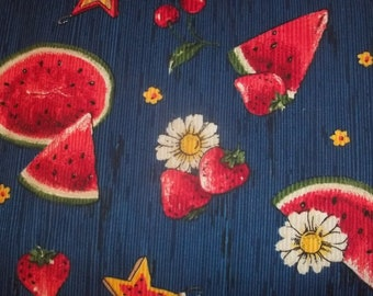 Watermelon Patch Print Fabric