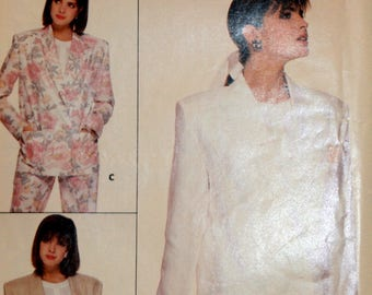 Misses Jacket Sewing Pattern - Misses Blazer Sewing Pattern - Butterick 3691 - New - Uncut - Size 8 - 10 - 12