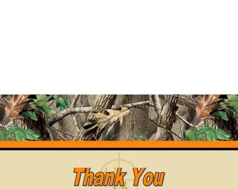 Camo THANK YOU Cards (5x7 folded) U-Print