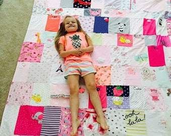 Baby Clothes Quilt - Memory Quilt - TShirt Quilts Custom - Baby Keepsake - Baby Memory Quilt - Baby Quilts Handmade - Memory Blanket - Baby