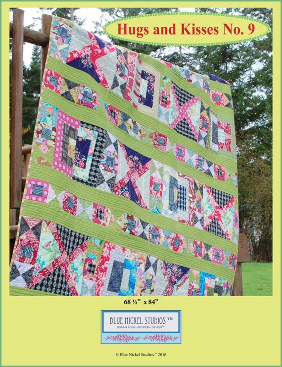 Hugs & Kisses No. 9 - An Urban Folk Pattern from Blue Nickel Studios - PDF Download