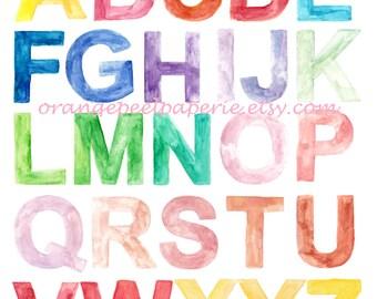 Alphabet To Print 8 X 10