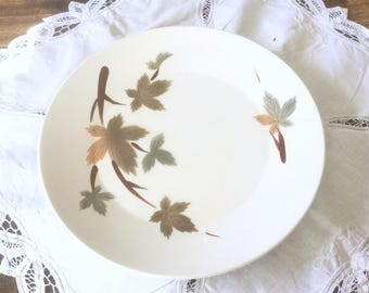 Primastone Large 12.75'' Serving Platter, Ironstone 1960s Serving Plate, Autumn Leaves Pattern, Made In Japan