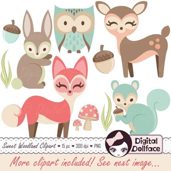 Woodland Nursery Clipart Baby Animals Clip Art Forest