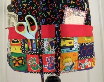 Teacher Aprons-Crafter Vendor Utility Apron-Kinder Kiddies