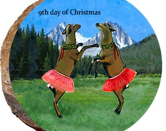 9th Day of Christmas Elk - DX221