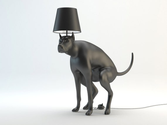 table rover medium finish bronze silk dog sculpture lamp faux gold shade
