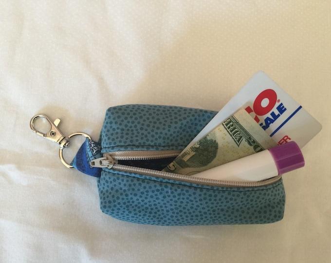 Zippered Keychain Pouch, Coin Purse, Card Holder, Dog Poop Bag Holder, Tissue Holder