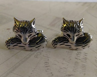 Fox Cuff Links Woodland Animals Nature Inspired Lovely Antique Silver Great Gift for Him Birthday Easter Father's Day Christmas Wedding