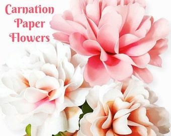 Paper cut flowers etsy carnation style paper flowers diy paper flower templates tutorial diy wedding flowers mightylinksfo