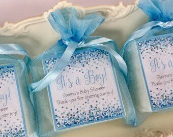 Baby Boy favors, shower favors, soap favors, set of 10