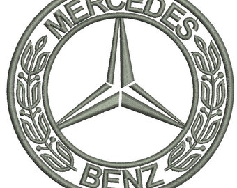 Mercedes Benz Machine Embroidery Design instantly download