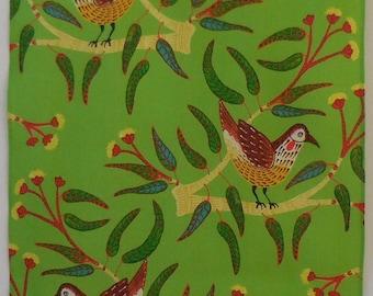 Wattle Birds and Red Cap Gum Australian Tea Towel