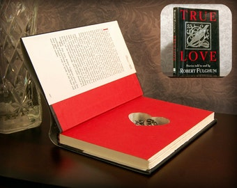 Hollow Book Safe with Heart - True Love - Secret Book Safe