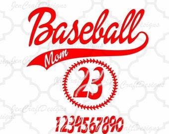 Baseball SVG Mom SVG Design Bundle Numbers Stitches monogram Frame svg cut files  Silhouette, Cricut Vinyl craft Cutters, Svg, Eps, Png, Dxf