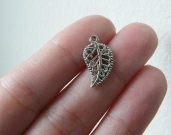 16 Leaf charms antique silver tone L27