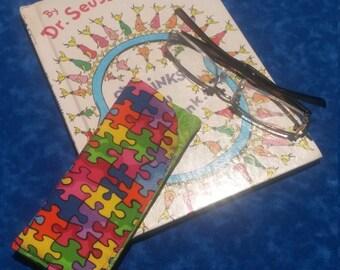 Autism Awareness Reading Glasses Case